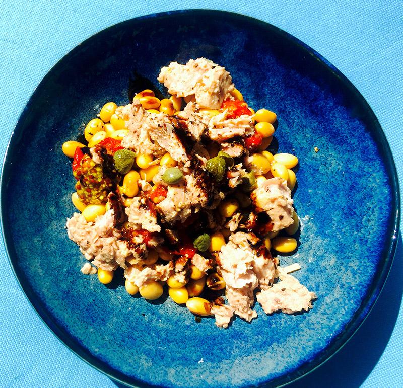 Salade estivale thon-fèves de soja