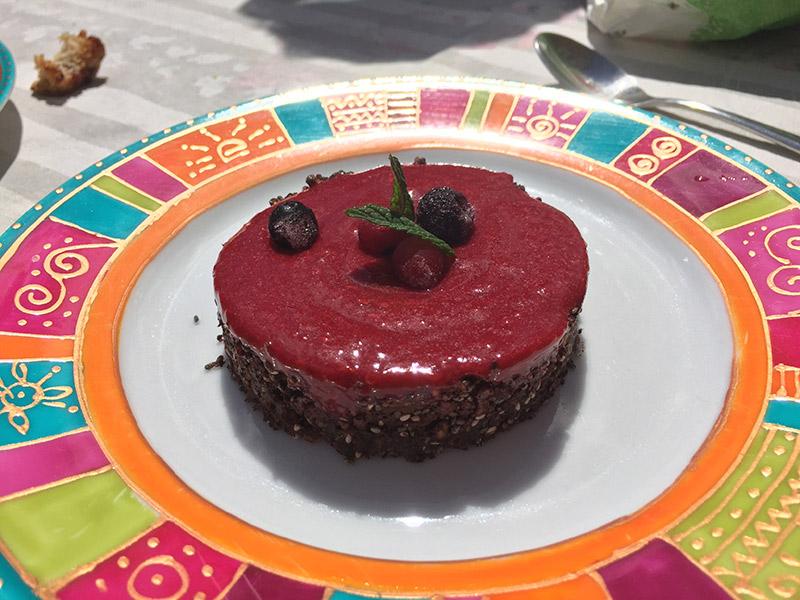 Raw cake fruits rouges chocolat