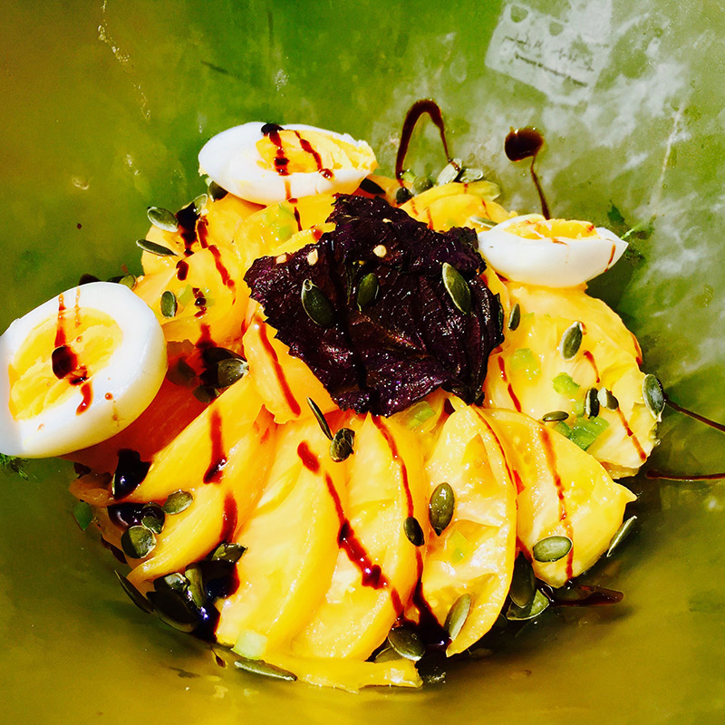 Salade de tomates ananas