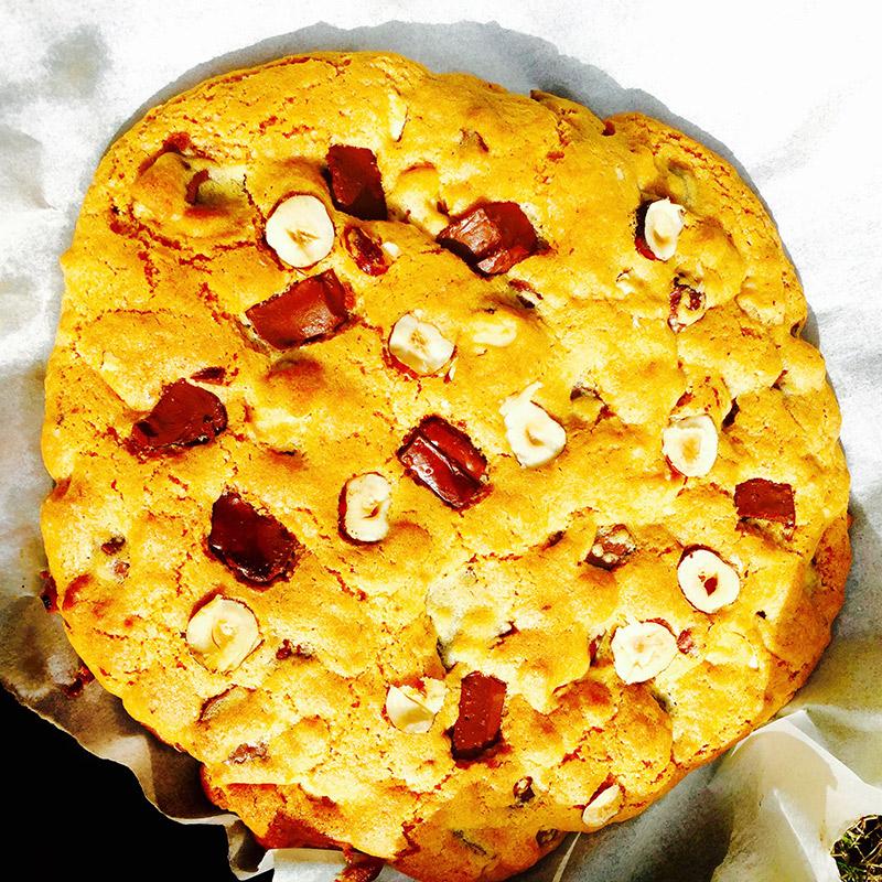 Cookie géant choco-noisette