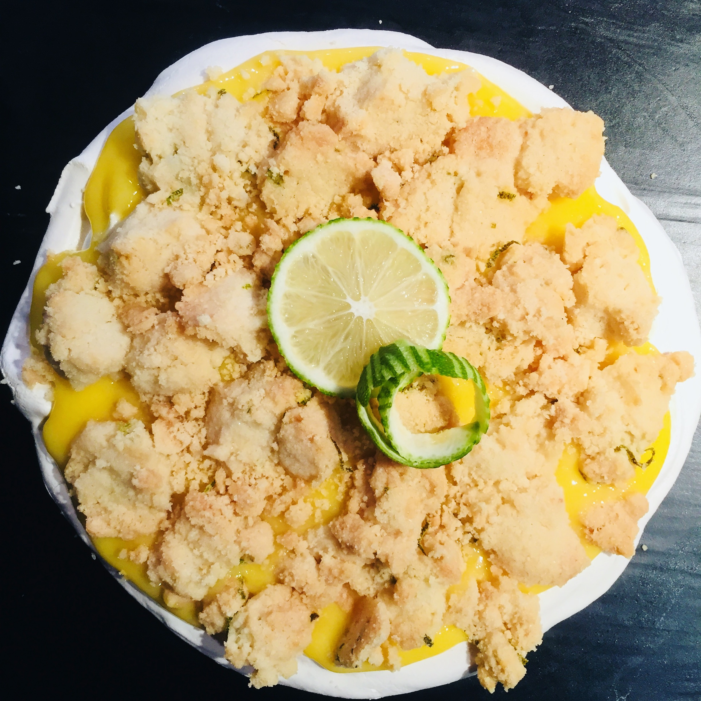 Tarte au citron meringué inversée
