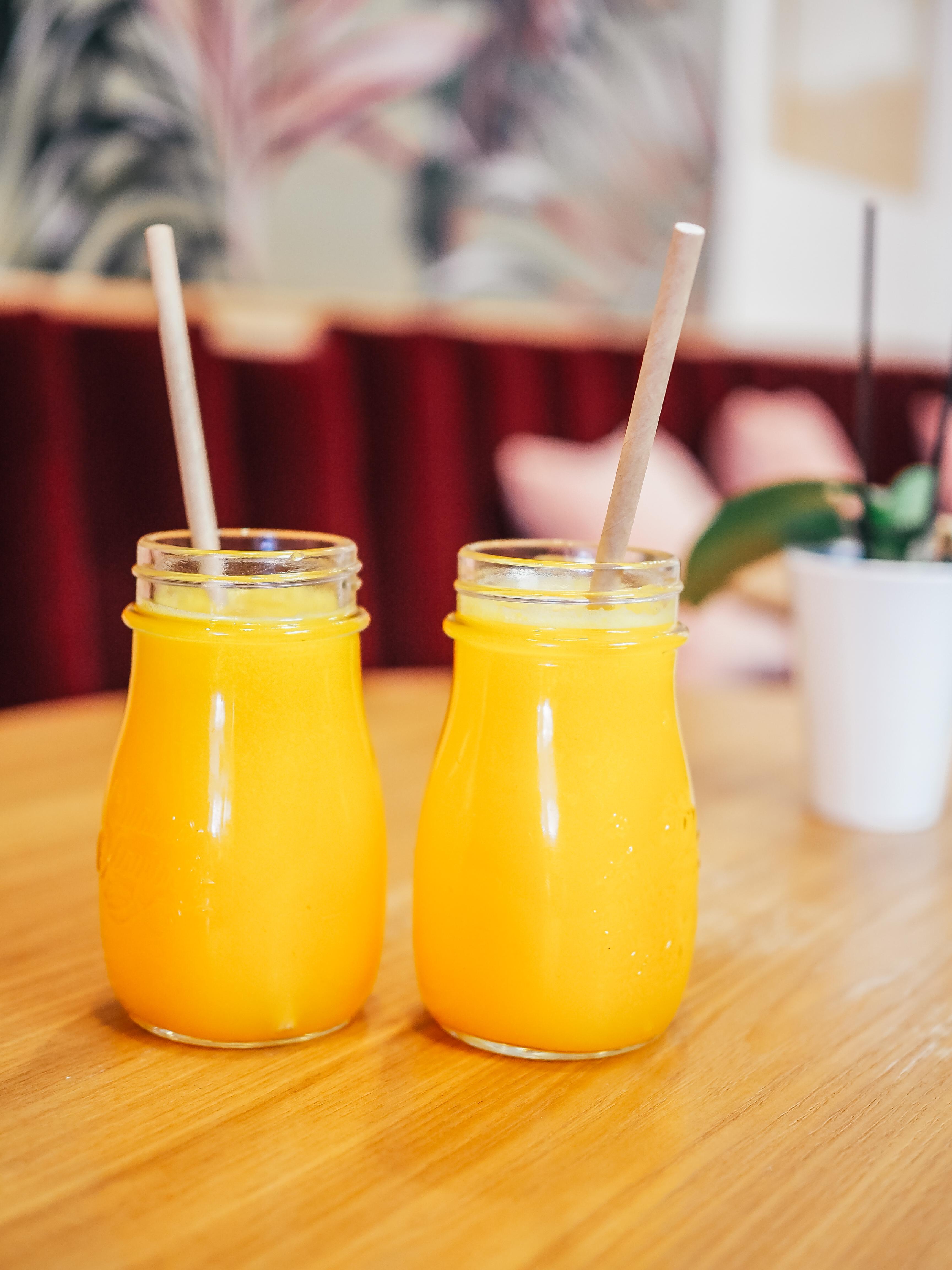 Jus orange extrait à froid